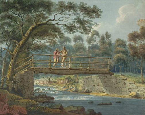 painting-of-footbridge-by-unknown-artist