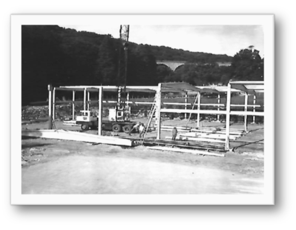 Warehouse Frame being erected