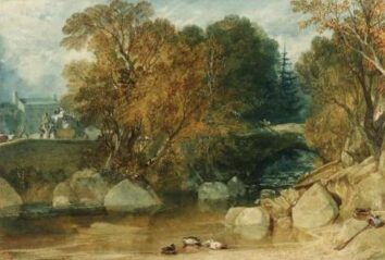JMTurner Painting of Ivy Bridge