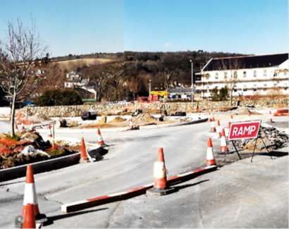 Marjorie Kelly roundabout in progress
