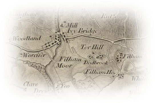 First Ordnance Survey Map of Devon - 1809