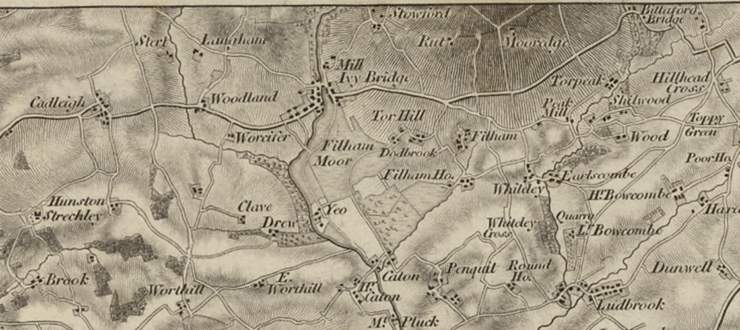 First Ordnance Survey Map of Devon 1809