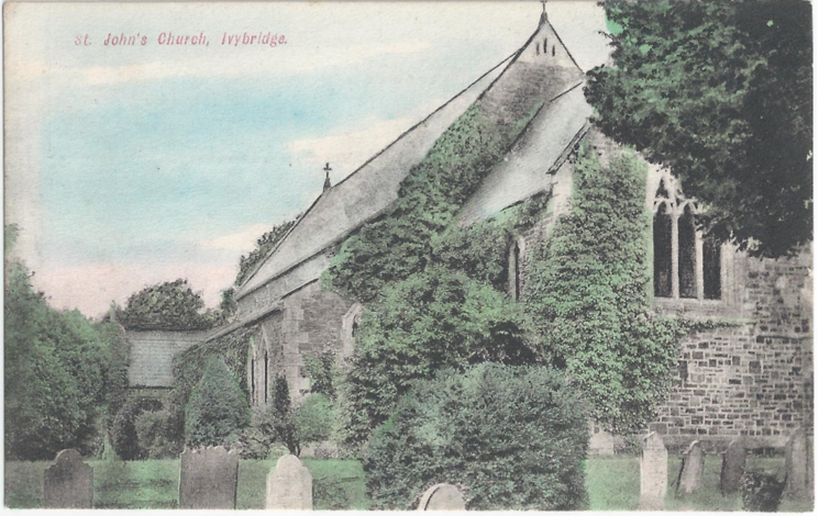 St Johns Church colour postcard